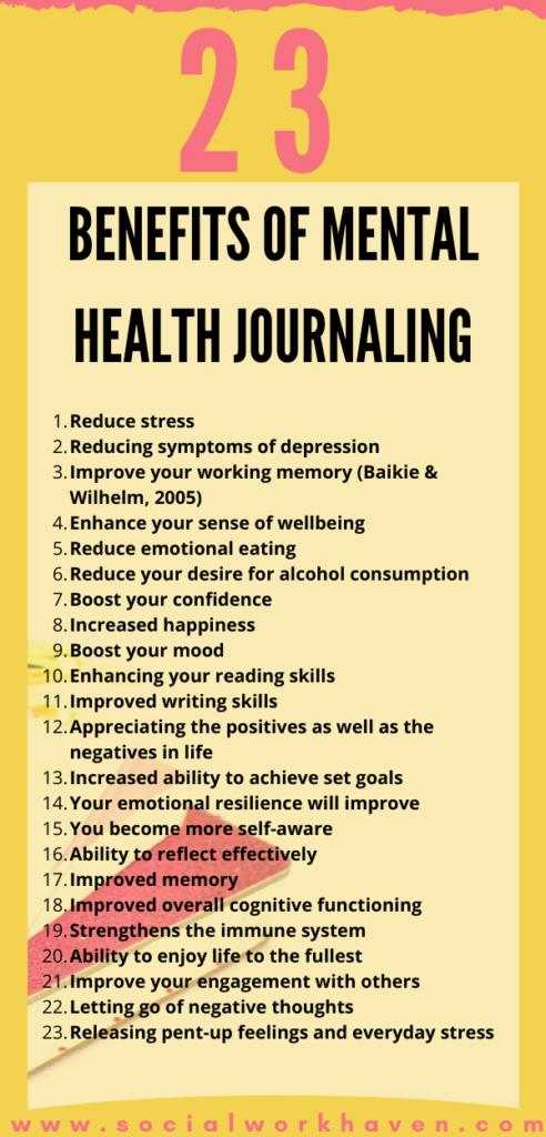 Benefits of Mental Health Journaling