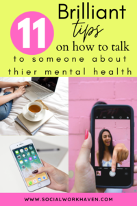 brilliant tips on how to talk to someone about their mental health