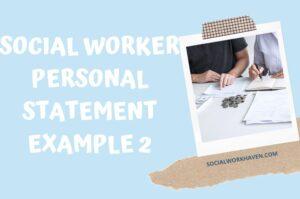 PERSONAL STATEMENT SOCIAL WORK JOB APPLICATION
