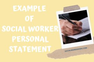 Social Worker Personal Statement Example