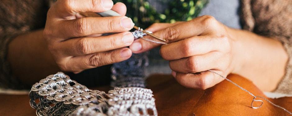 knitting in winter