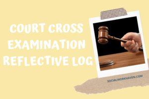 COURT CROSS EXAMINATION REFLECTIVE LOG