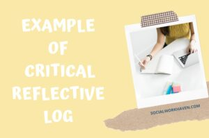 example of critical reflective log - values and ethics