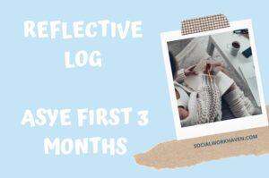 Reflective log on ASYE