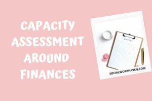 capacity assessment around finances