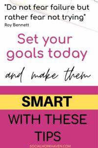 smart goals social work