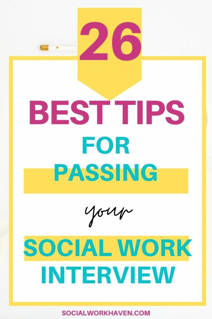 social work interviews